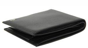 Кошелек черный мужской кожаный Petek 1750j
