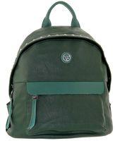 Рюкзак большой зеленый с кожей Velina Fabbiano 531062