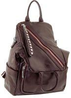 Сумка рюкзак кожаный бордо 5521-5j