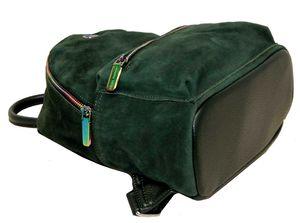 Рюкзак замшевый зеленый Velina Fabbiano 531339-4