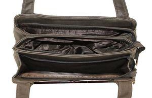 Сумка с отделкой лак крокодил Gilda Tohetti 281428-66