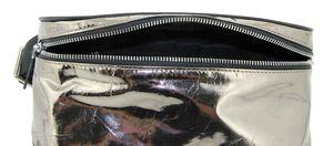 Сумка кожаная на пояс серебряная Applaud 668-8
