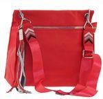 Сумка планшет кожаная красная Polina & Eiterou 9162-5