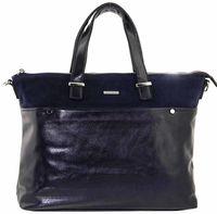 Сумка шоппер синяя  большая Velina Fabbiano 552123-3