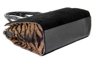 Сумка замшевая с леопардовыми вставками Velina Fabbiano 552340-1