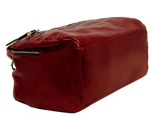 Сумка бочонок бордовый гладкий Velina Fabbiano 571102-40-2