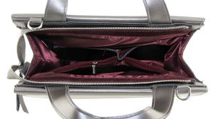 Сумка планшет кожаная серебро женская 71311-8