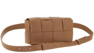 Кожаная сумочка плетеная на пояс Polina & Eiterou 9967-2