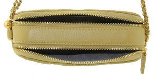 Сумка кожаная стеганная с цепочкой 717-8