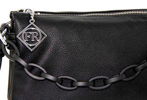 Клатч с цепью черный Farfalla Rosso 3433-1