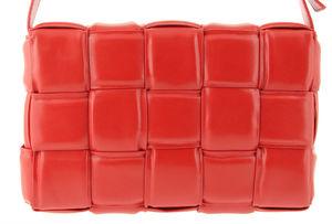 Сумка кожаная плетеная красная Polina & Eiterou 9932-5j