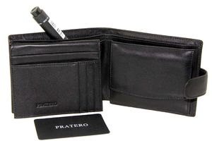 Кошелек кожаный классика мужской Pratero 20923