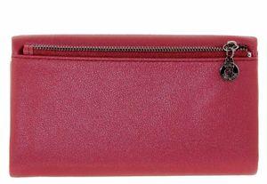 Кошелек кожаный бордовый Nina Farmina 3239-7
