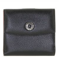 Кошелек кожаный черный с красным Petek 8080-1j