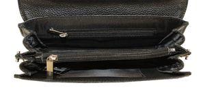 Барсетка кожаная с ручкой и замком мужская 9936-1