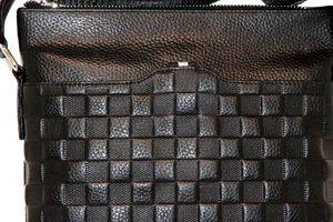 Кожаный планшет мужской через плечо шашечки 66215-4
