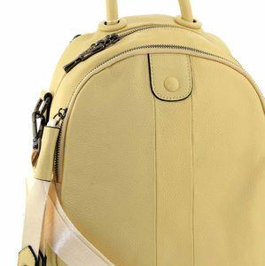 Кожаный рюкзак желтый 7628-8j