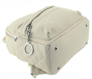 Рюкзак кожаный бежевый Polina & Eiterou 0331-11j