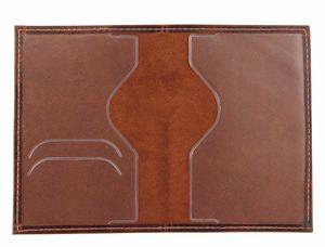 Обложка для паспорта рыжая кожаная 1001-62