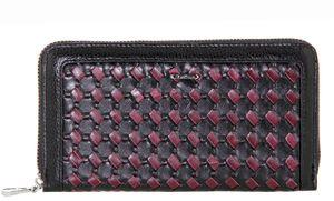 Кошелек кожаный с плетенкой Mario Veronni 153-785