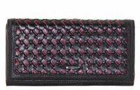 Кошелек кожаный с плетенкой Mario Veronni 153-783