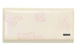 Кошелек кожаный розовый с перьями женский Lison Kaoberg 8381-5