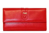 Кошелек кожа красный женский Lison Kaoberg 9102