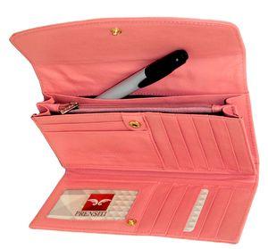 Кошелек кожаный розовый женский Prensiti 136-665