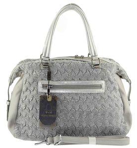 Сумка шоппер жатка серебро женская B.Oalengi 9046-2