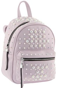 Рюкзак розовый с жемчугом B.Oalengi 1504-5