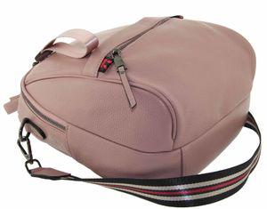 Рюкзак-сумка кожаный розовый 2019-5j