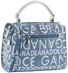 Сумка рюкзак джинс с буквами 1246-2