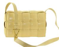 Клатч плетеный желтый Polina & Eiterou 815-8
