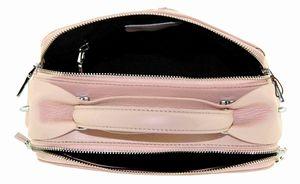 Сумка бочонок кожаная розовая женская B.Oalengi 9118-5
