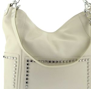 Мешок кожаный бежевый Polina & Eiterou 0121j